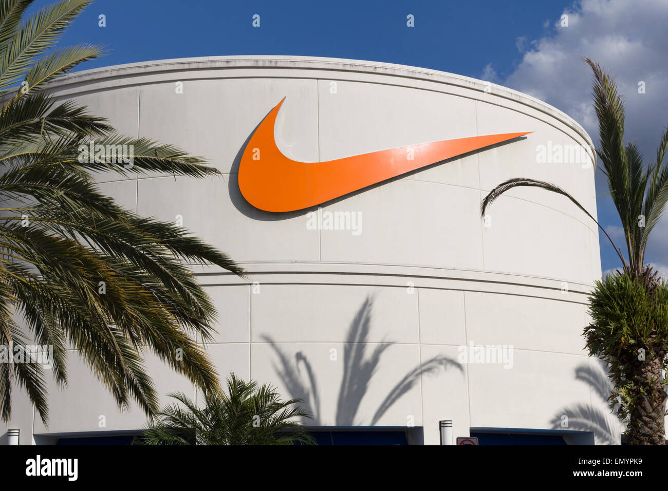 Nike sign at Orlando Premium Outlet Shopping Mall at Vineland Stock ... 37e22535db67