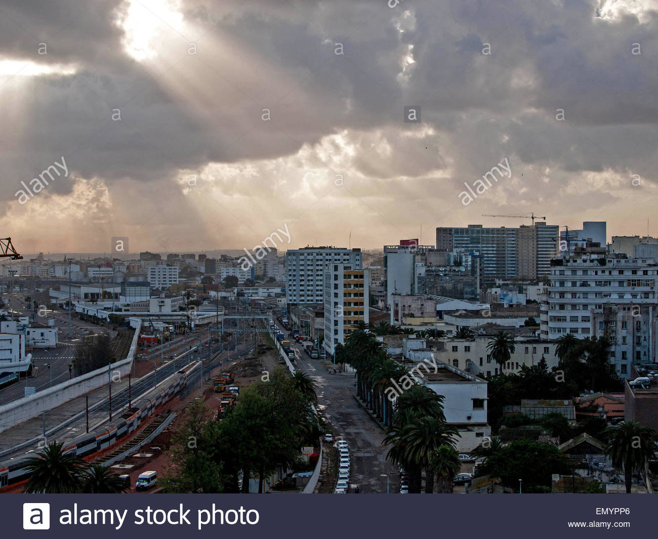 General view on Casablanca, Morocco - Stock Image