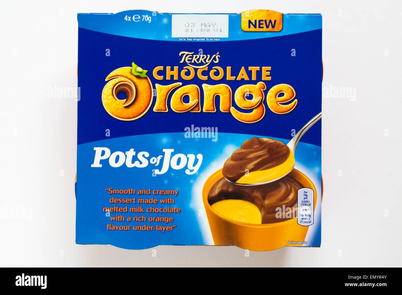 Terrys Chocolate Orange Pots Of Joy Isolated On White