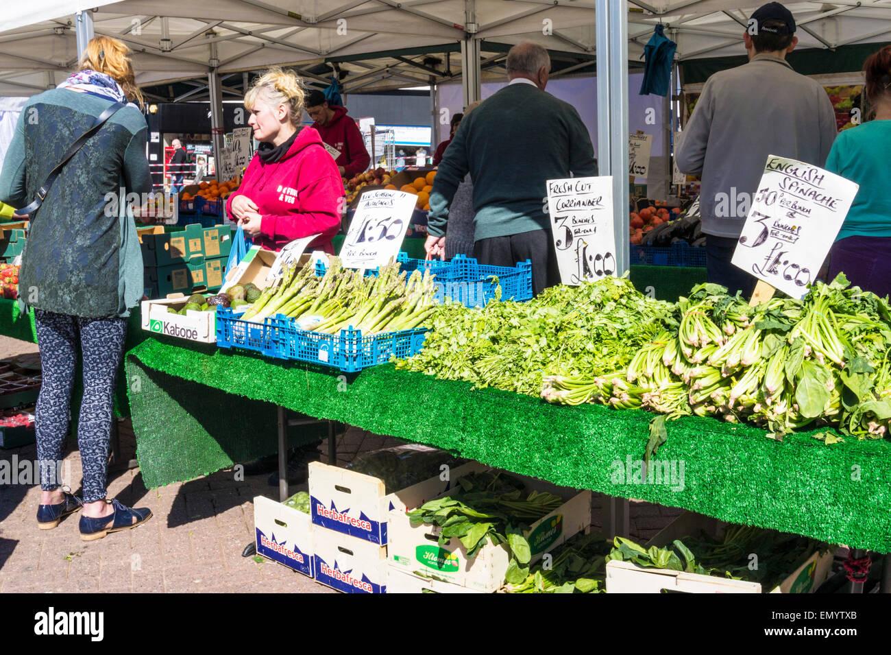 Fruit and Veg Market Stall Stoke on Trent England UK GB EU Europe - Stock Image