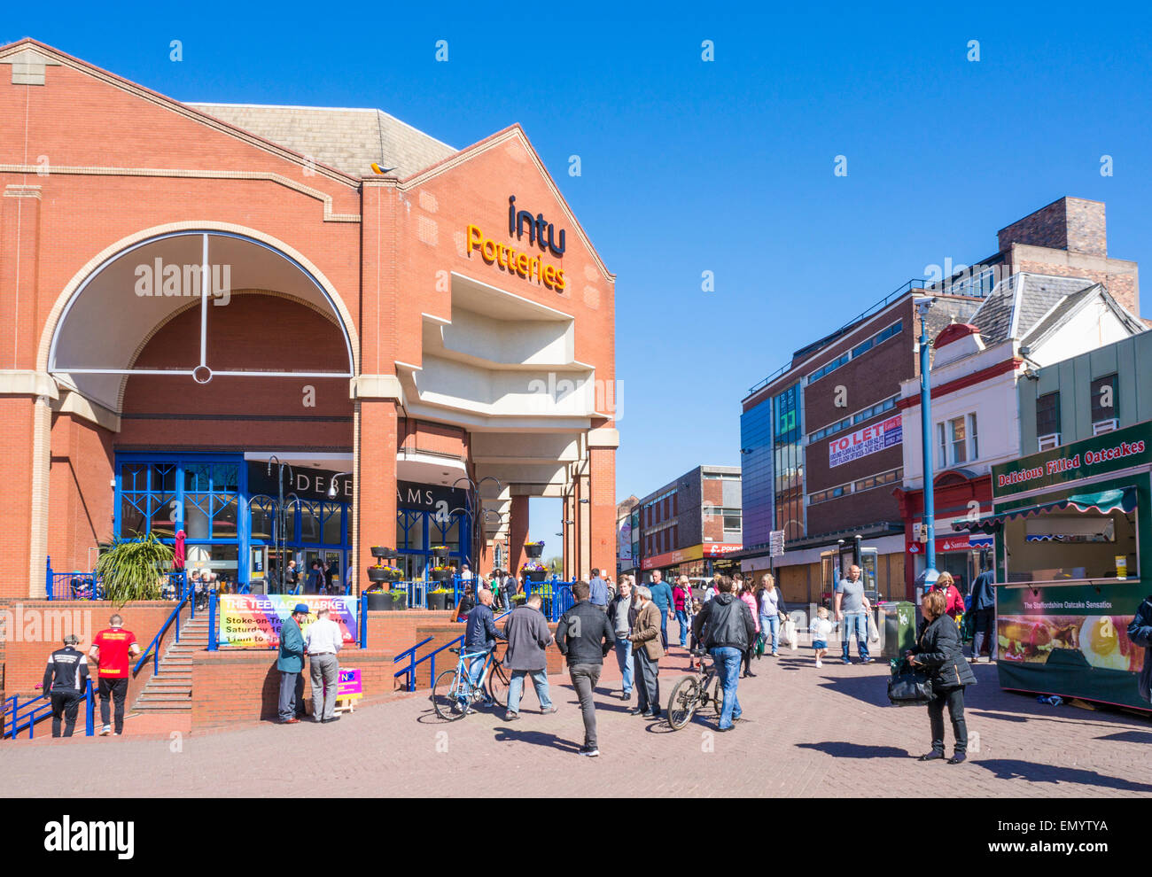 Intu Potteries shopping centre City Centre Stoke on Trent Staffordshire England GB UK EU Europe - Stock Image