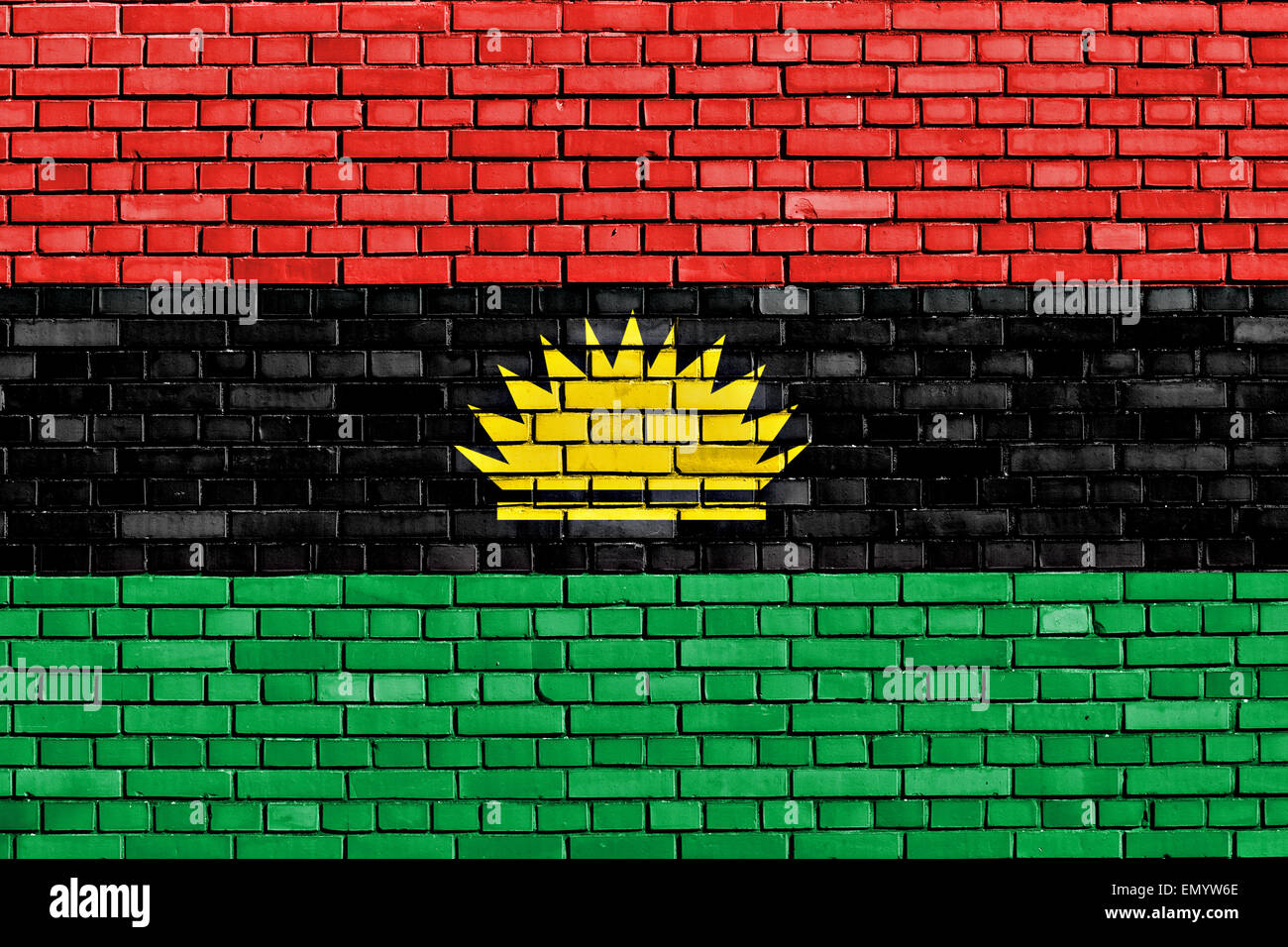 Biafra flag stock photos biafra flag stock images alamy flag of biafra painted on brick wall stock image thecheapjerseys Image collections