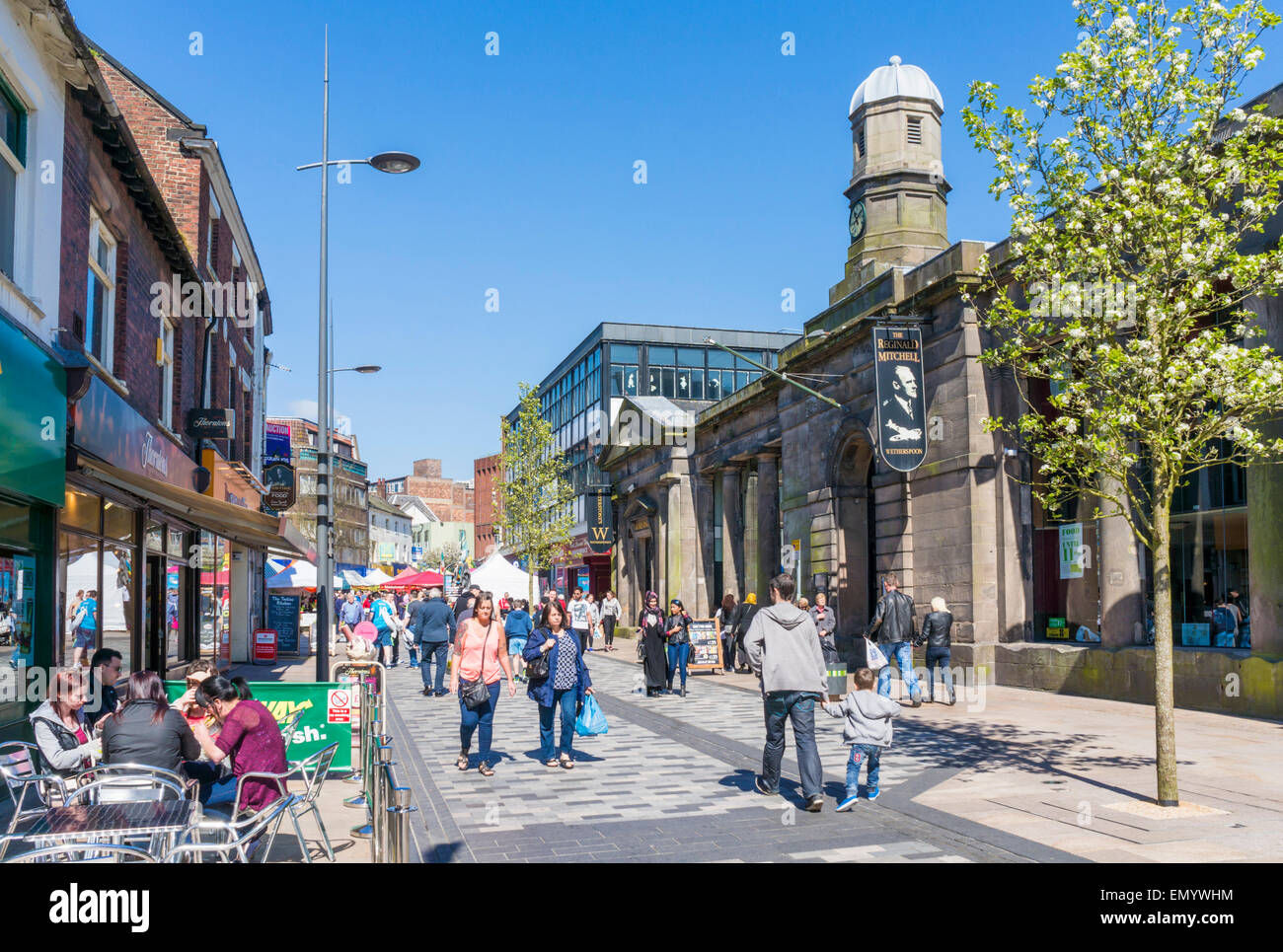 City Centre Stoke on Trent Staffordshire England GB UK EU Europe - Stock Image