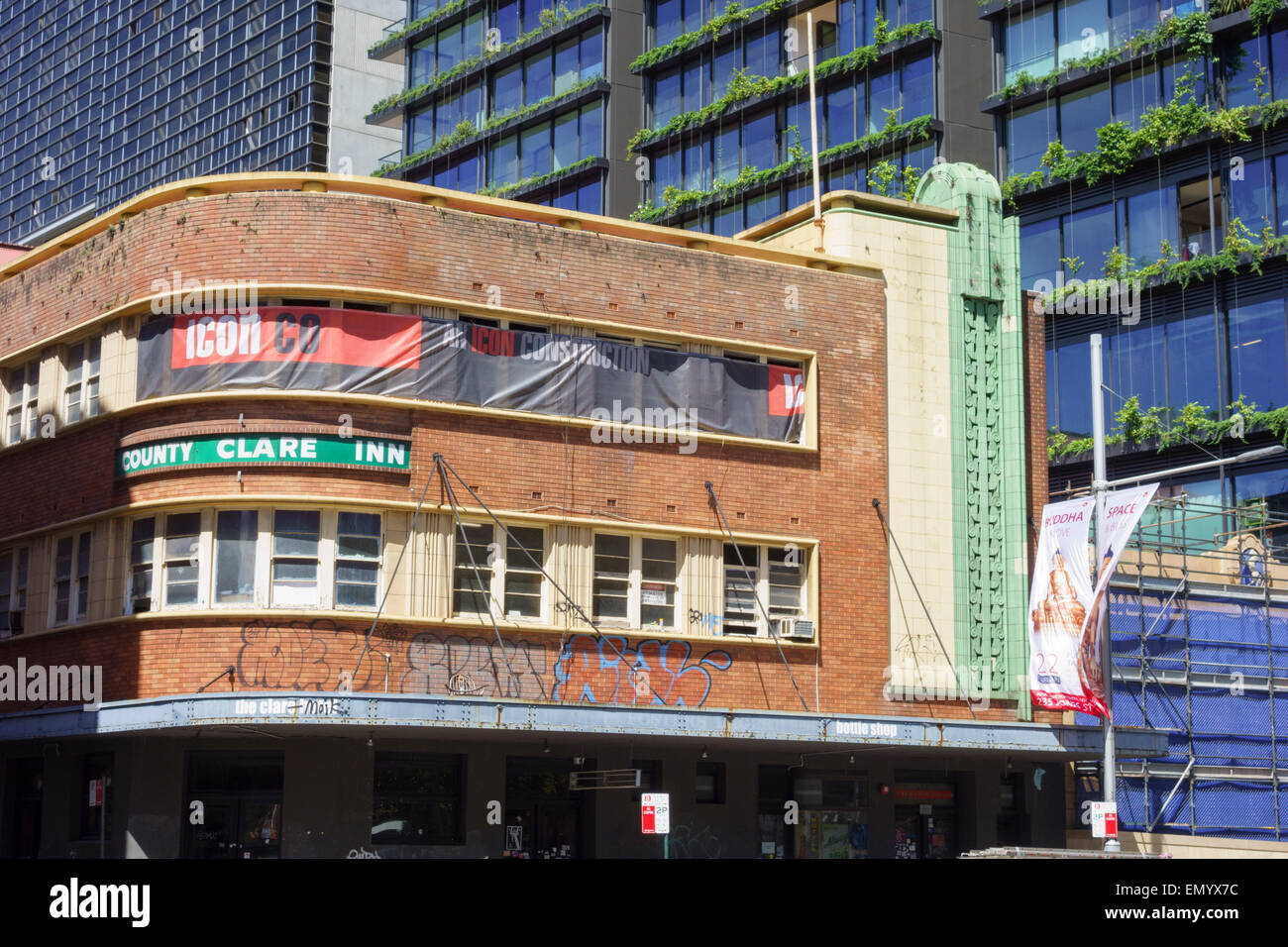 One of the many art deco pubs in Australia. Au Stock Photo