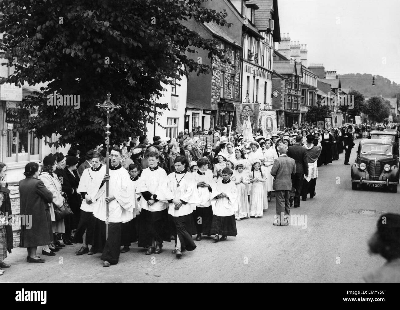 Over 20,000 pilgrims from England, Wales and Ireland Congregate at Bala in Wales for the pilgrimage. Some of the - Stock Image