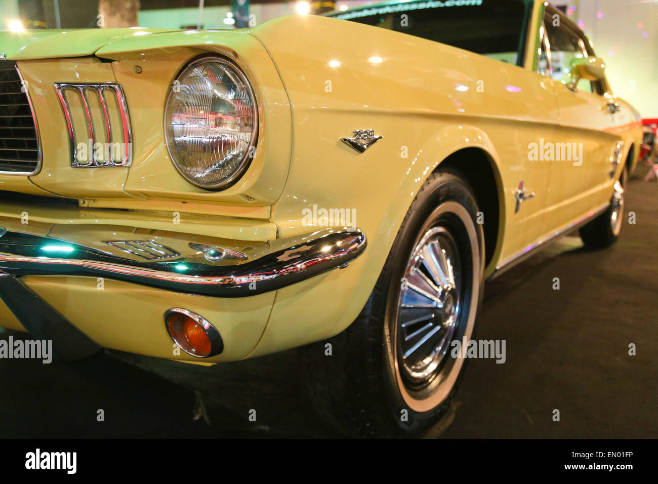 Ford Mustang Coupe 1965 model on display at KL International Motorshow  2013. - Stock Image 270bcffc89