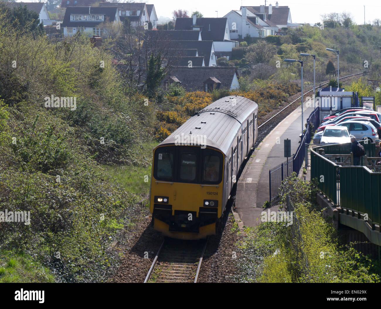 europe, uk, england, devon, Exe estuary train - Stock Image