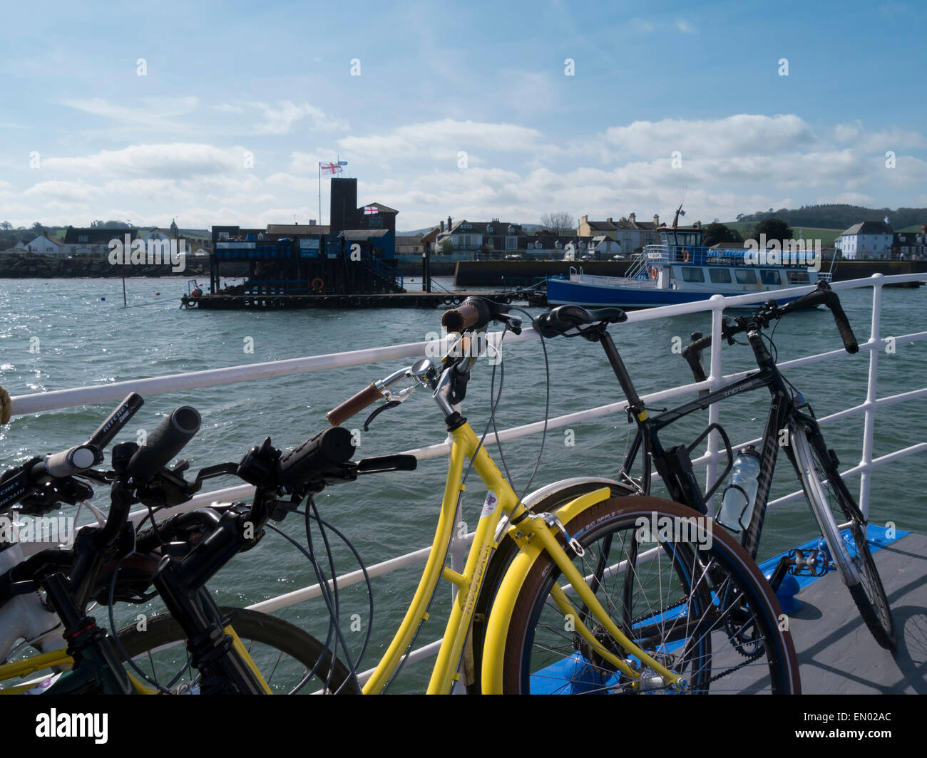 europe, uk, england, devon, Exe estuary bicycles - Stock Image