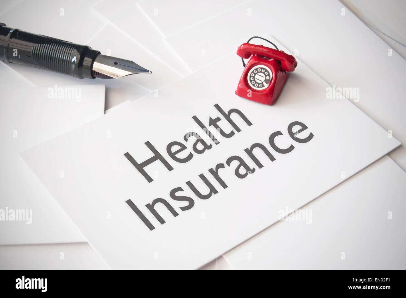 Health insurance concept - Stock Image