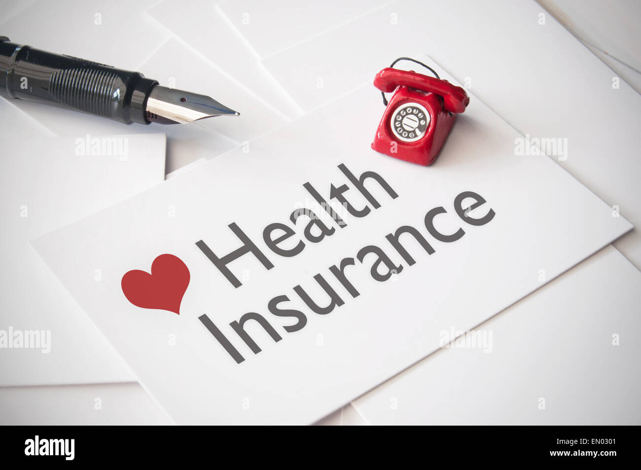 Health insurance concept - Stock Image