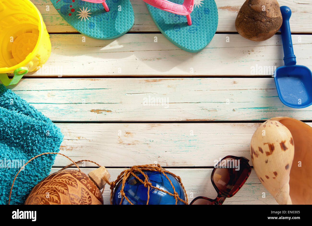 Summer vacation holiday background with space for advertising - Stock Image