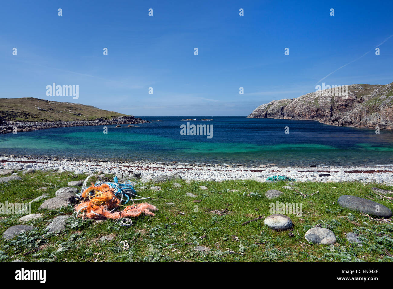 Gearrannan Bay, Isle of Lewis, Outer Hebrides, Scotland . - Stock Image