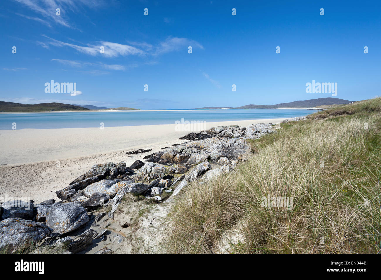 Tidal beach of Luskentyre, Isle of Harris, Outer Hebrides, Scotland. - Stock Image