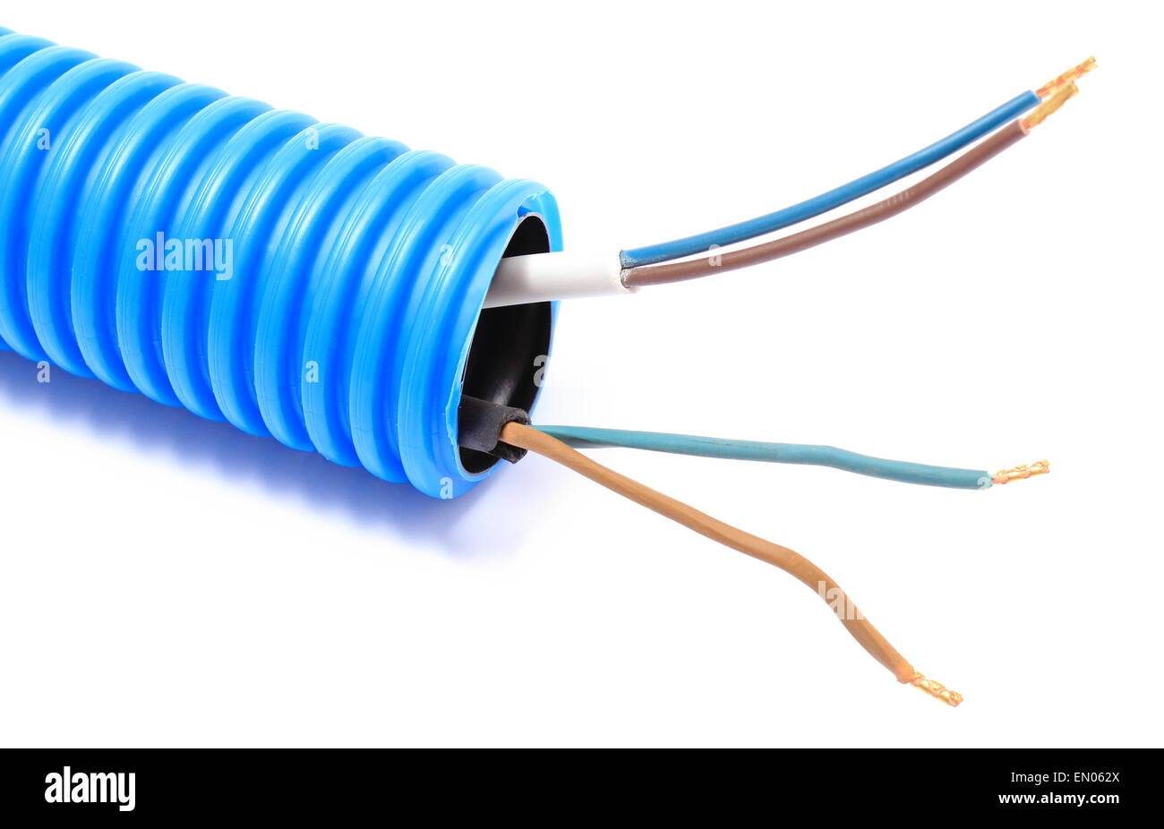 Corrugated plastic pipe and electrical cable, component for use in ...