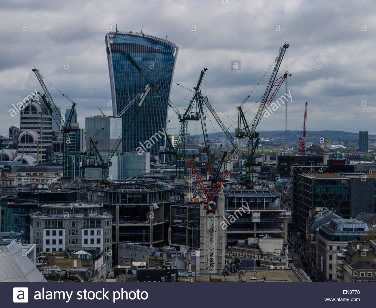 London View from Stone Gallery St Paul's Cathedral Dome England UK London Stock Photo