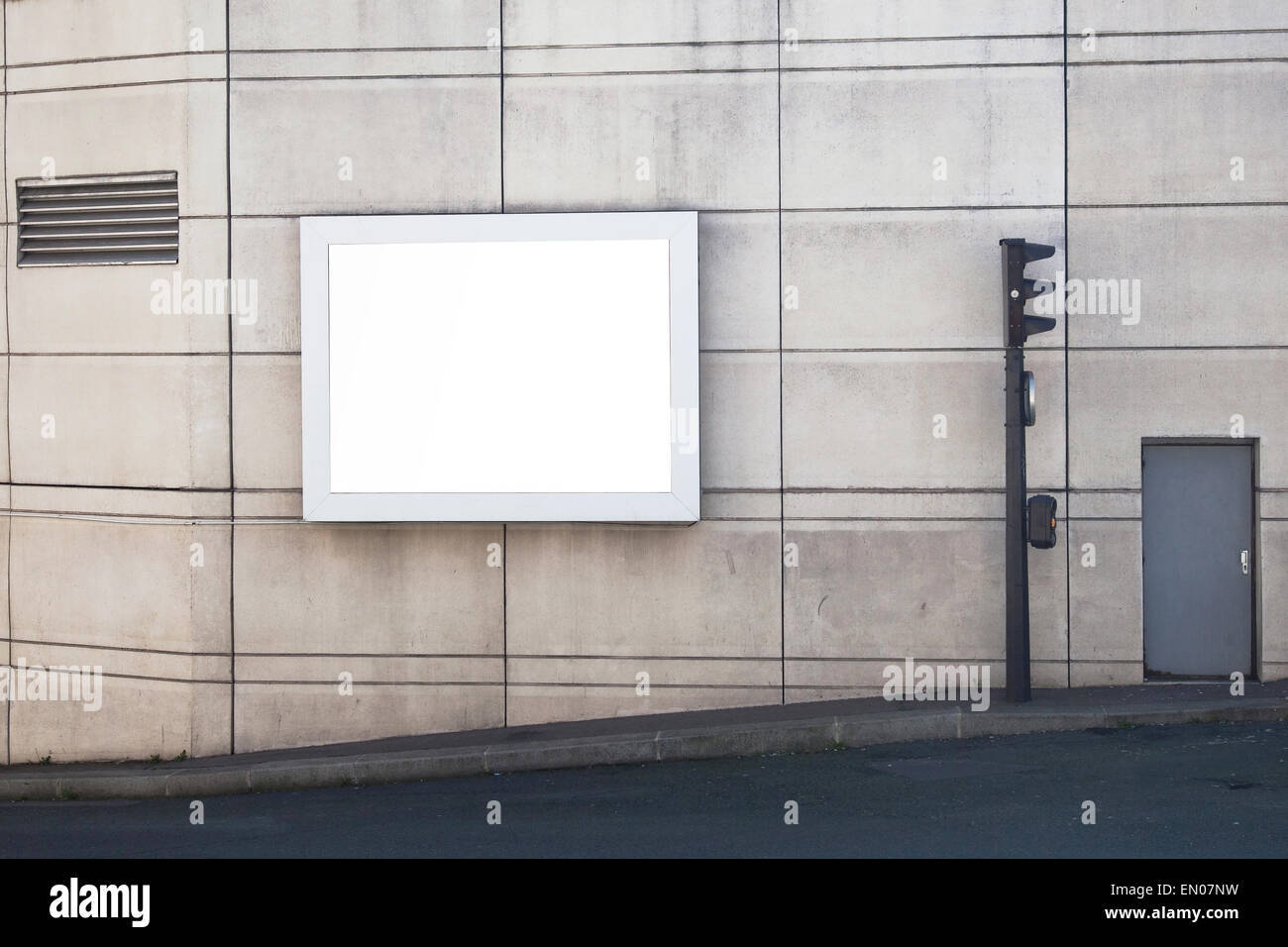 empty billboard in the city - Stock Image