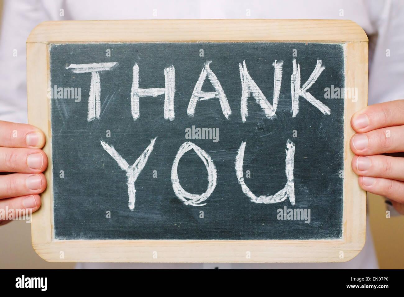 thank you - concept of gratitude - Stock Image