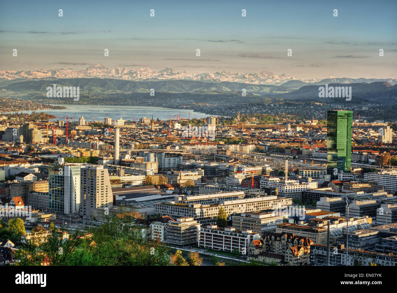 April 2015, town of Zurich (Switzerland), HDR-technique - Stock Image