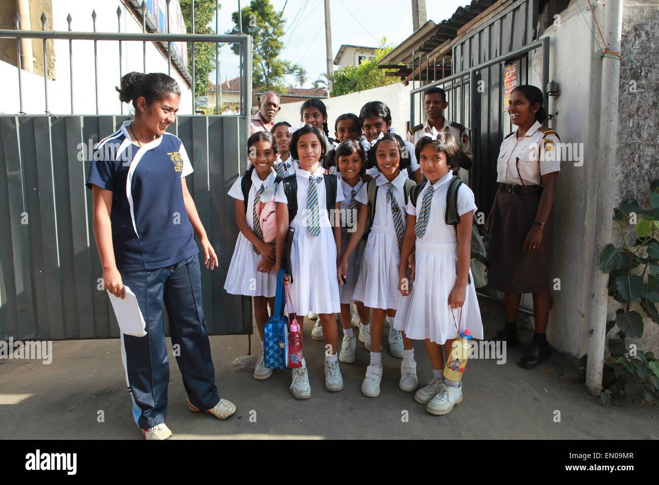 Sri Lanka: Sri Lankan school children - Stock Image