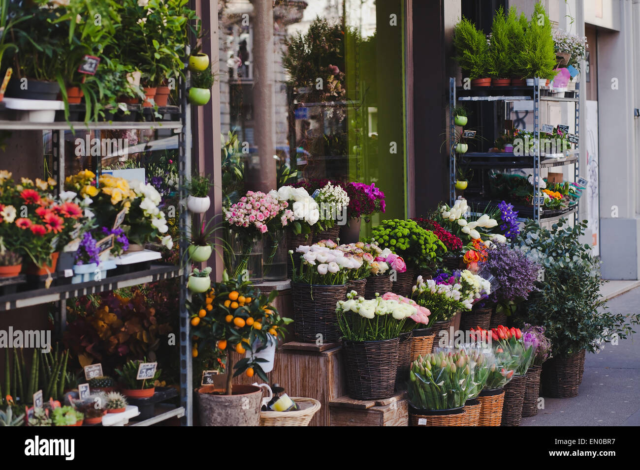 Flower Shop Store Paris France Stock Photos Flower Shop Store