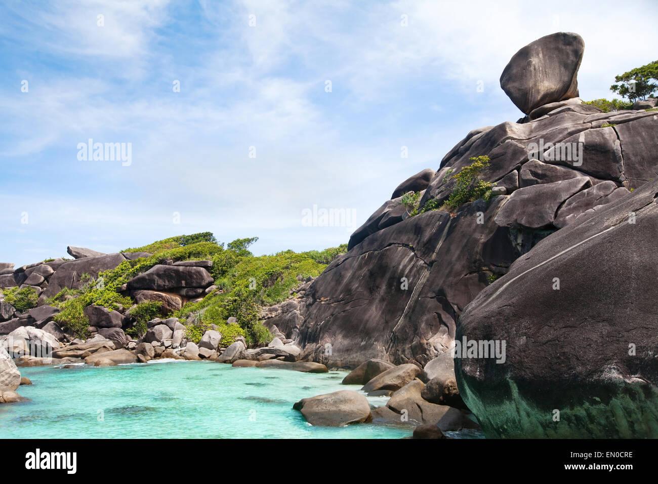 beautiful paradise beach on Similan islands, Thailand - Stock Image
