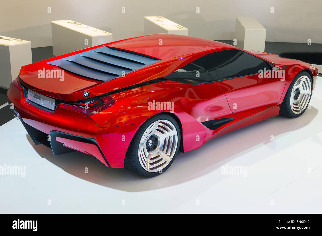 BMW M1 Homage at the BMW museum. The M1 Homage Concept was launched ...