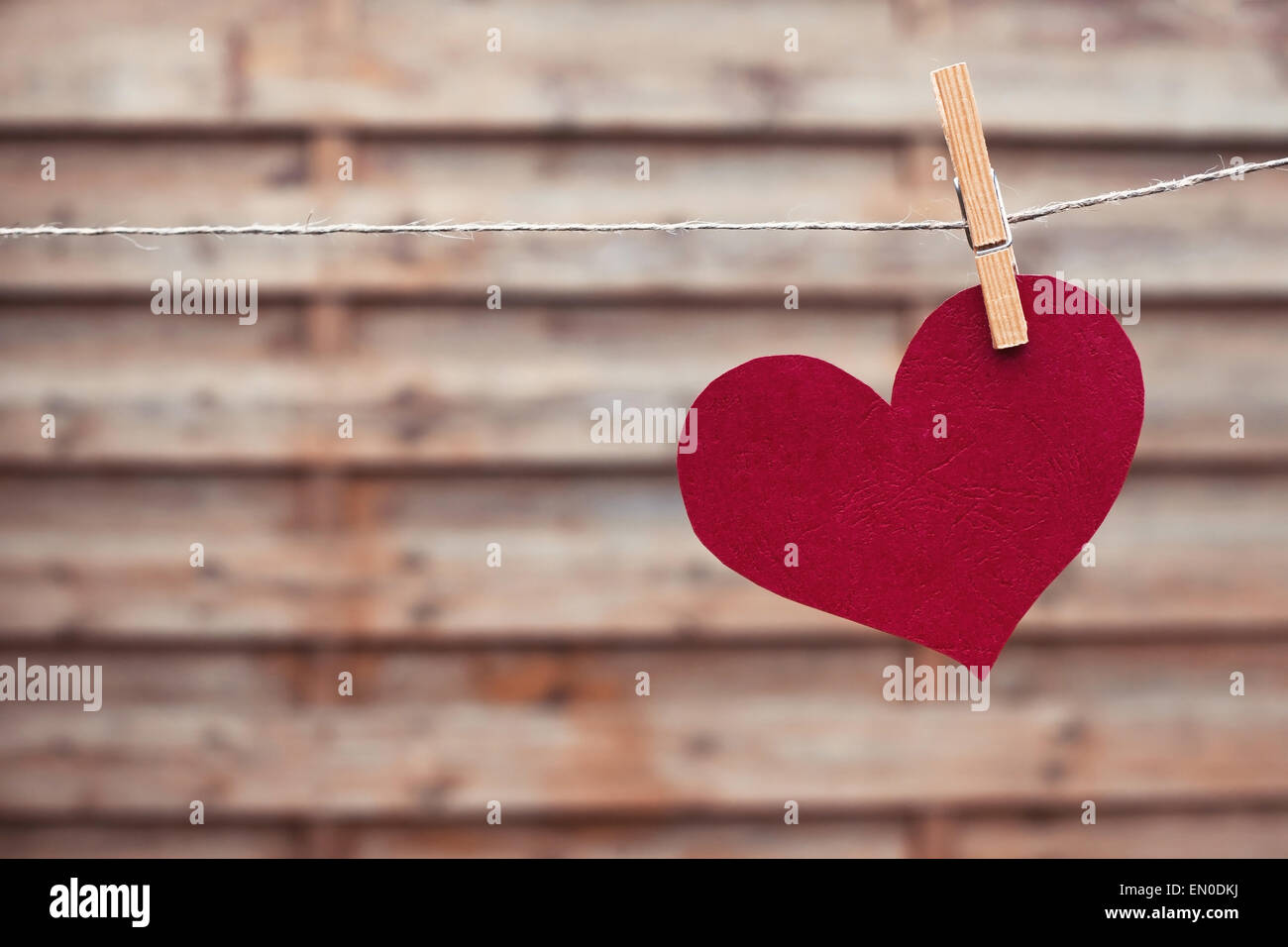background with red heart - Stock Image