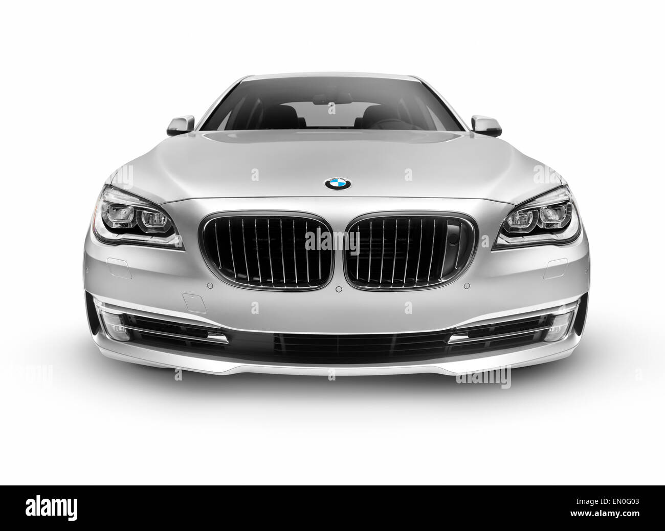 Silver 2015 Bmw 7 Series 750li Individual Luxury Car Front View