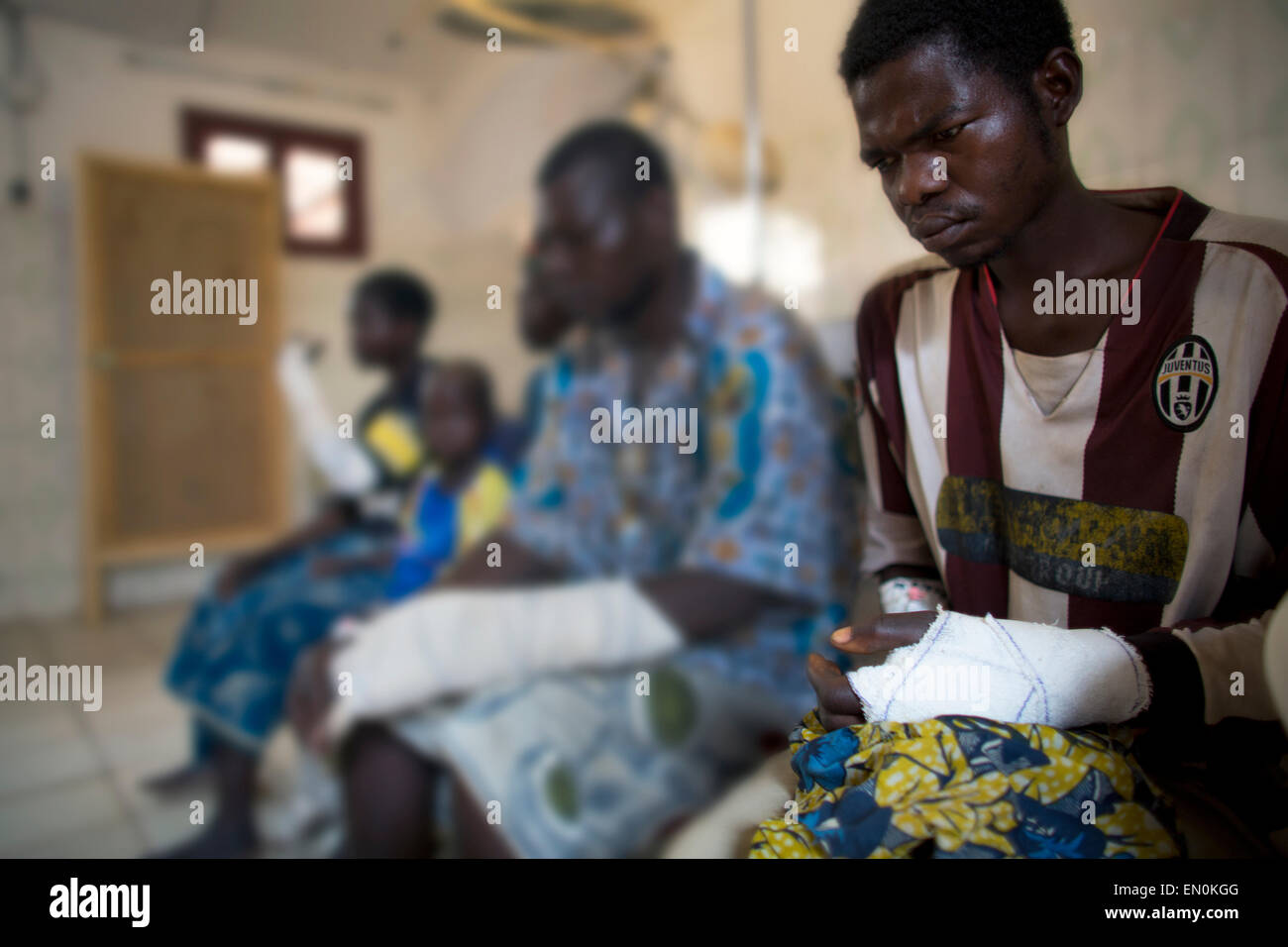 Emergency Health Care in Central African Republic Stock Photo