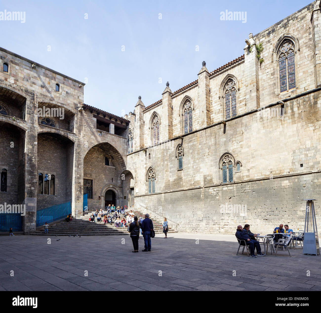 Placa del Rei, Barcelona, Catalonia, Spain - Stock Image