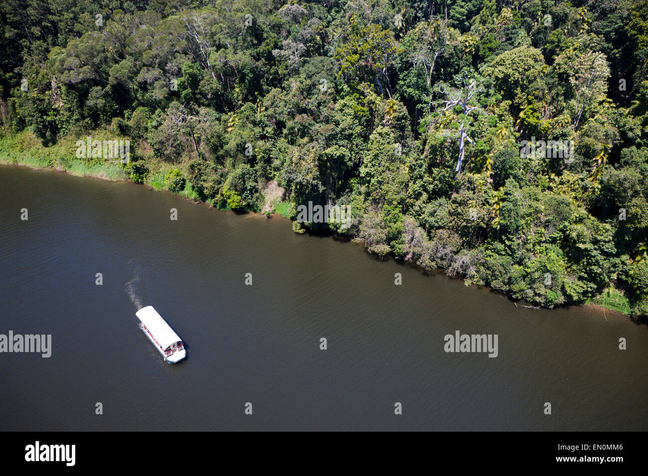 Riverboat Tours on Barron River, Kuranda, Cairns, Australia - Stock Image