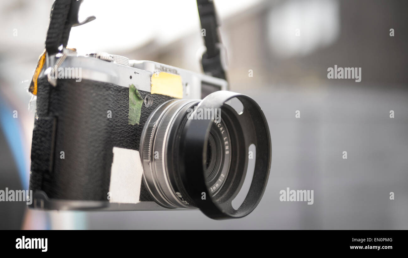 Fuji X100 Mirrorless Digital Rangefinder Camera - Stock Image