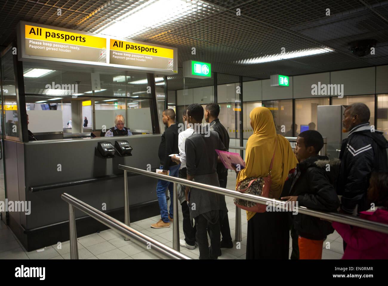 Passport Control At Schiphol Airport Stock Photo 81767863