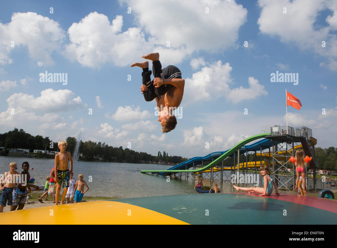 Pool acrobatics stock photos pool acrobatics stock - Campsites in holland with swimming pool ...