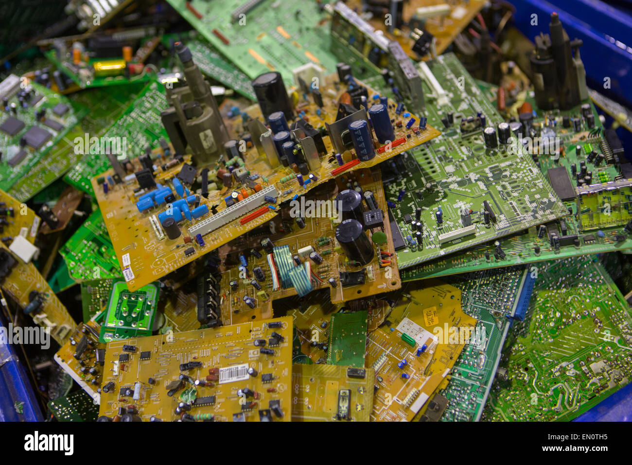 Computer Parts Recycle Stock Photos Circuit Boards Concept Of Electronic Junk Recycling Image
