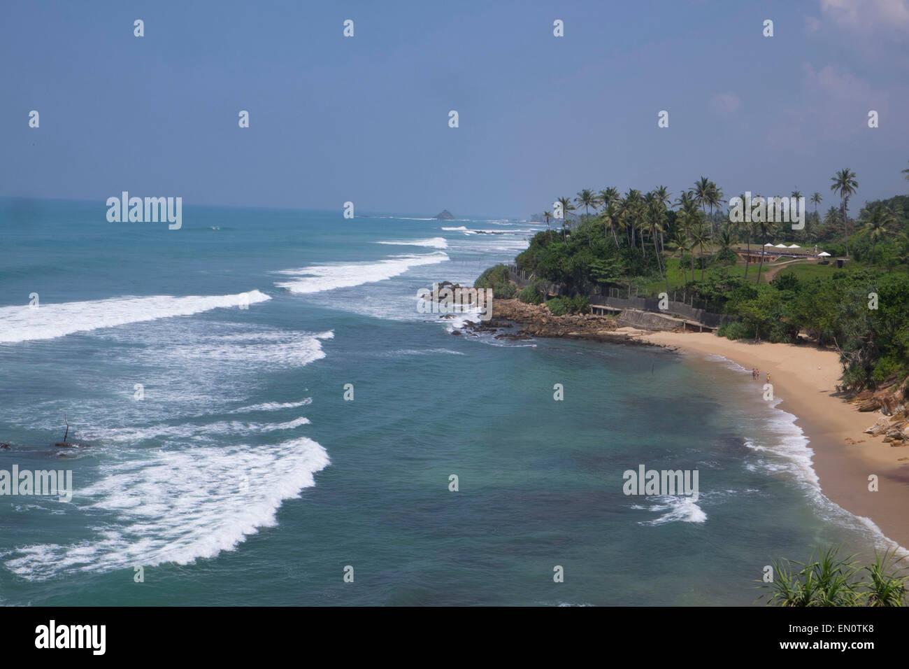 Cape Weligama,Sri Lanka: Indian Ocean - Stock Image