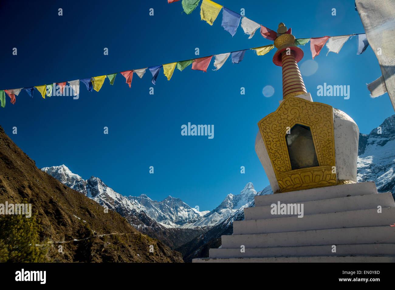 Stupa in the himalayas region - Stock Image