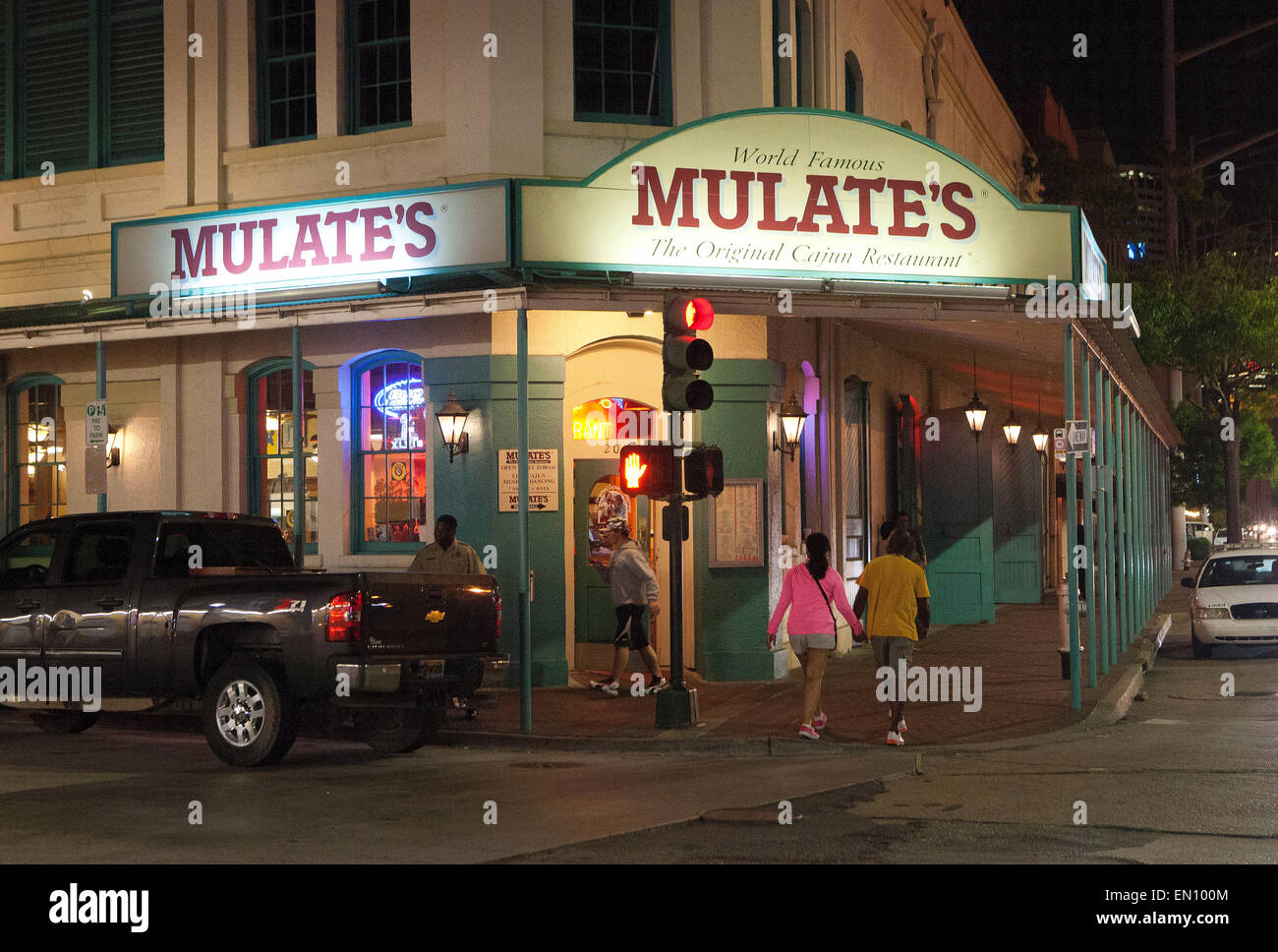 New Orleans Louisiana Mulates Cajun Restaurant Stock Photo