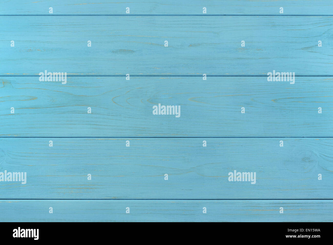 Azure wooden painted boards assembled like background Stock Photo