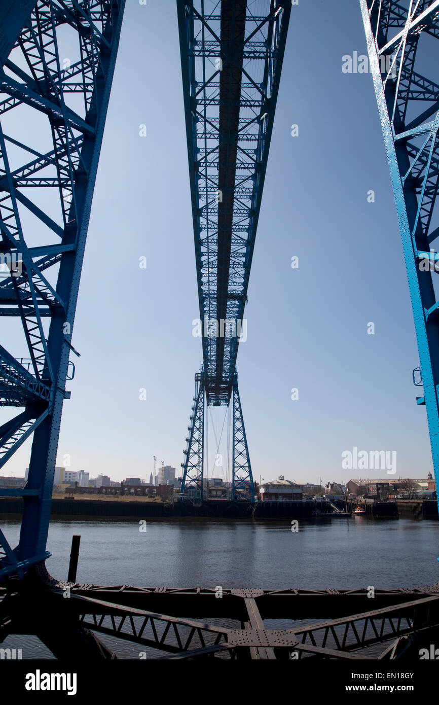 The Transporter Bridge at Middlesbrough, Teesside - Stock Image