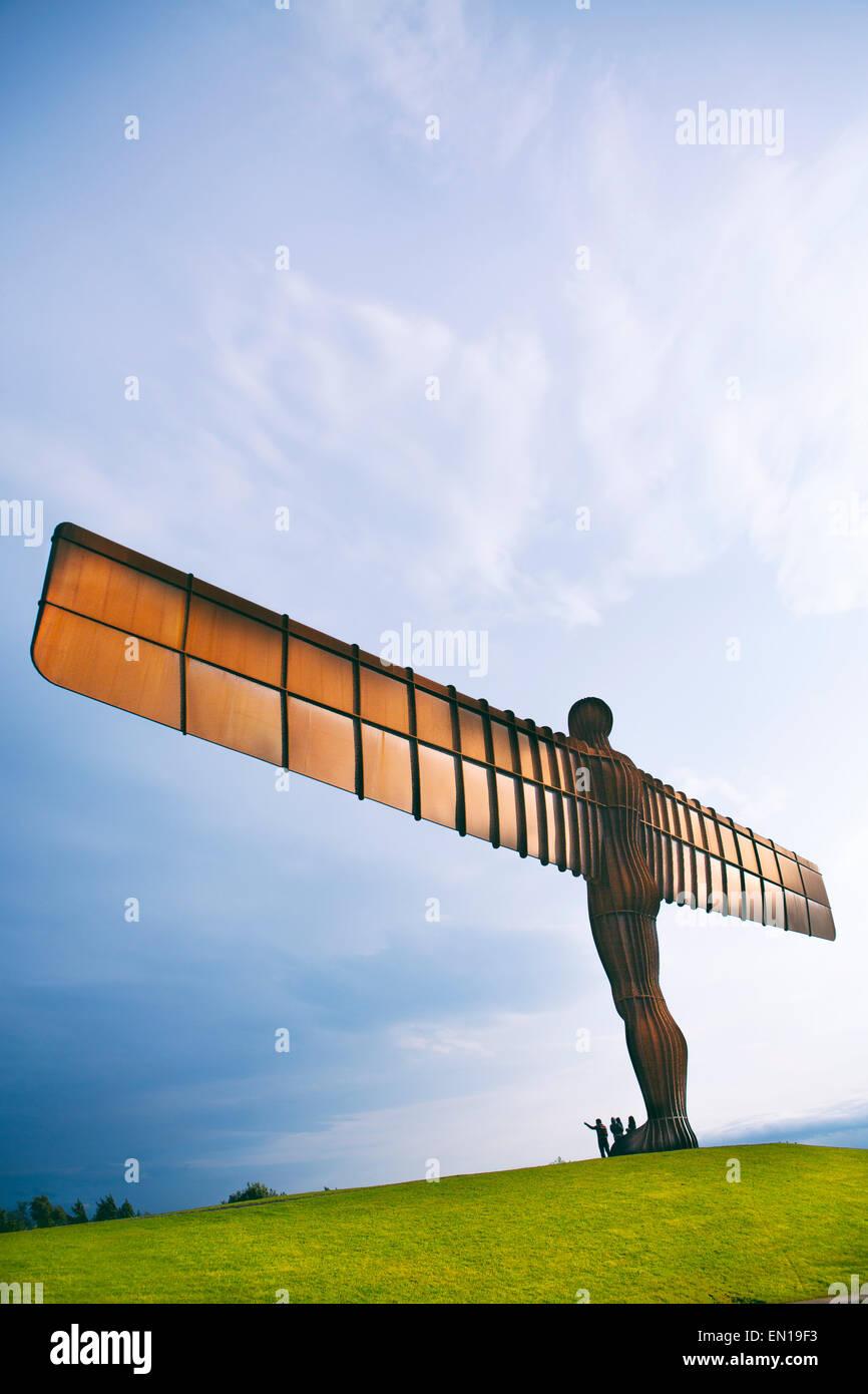 Europe, United Kingdom, Tyne and Wear, Gateshead, Angel of the North by Antony Gormley - Stock Image