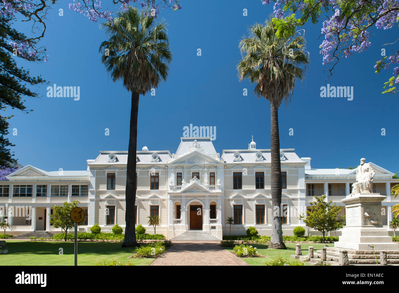 Theological Seminary at 171 Dorp Street in Stellenbosch, Western Cape, South Africa. - Stock Image