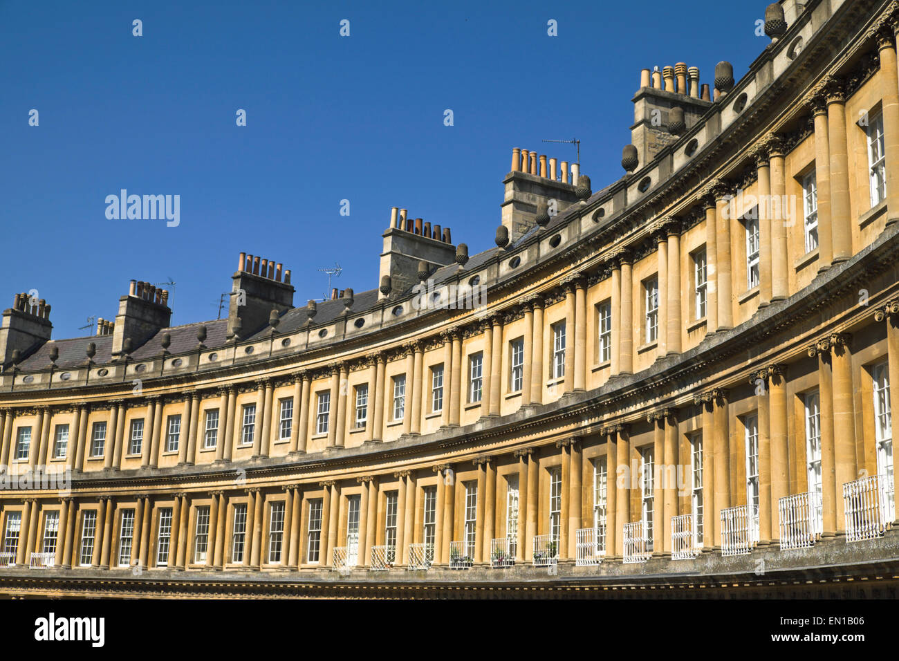 Bath Somerset England UK The Circus historic Georgian architecture - Stock Image