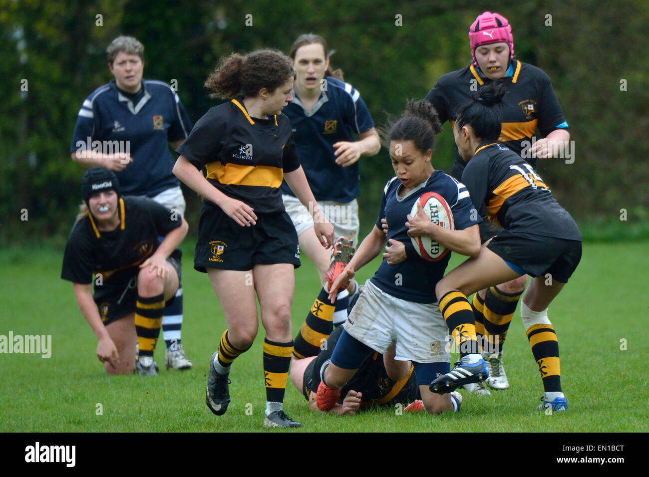 Manchester UK  25th April 2015 Didsbury Toc H Ladies play their first competitive match against Eccles Ladies 2. - Stock Image