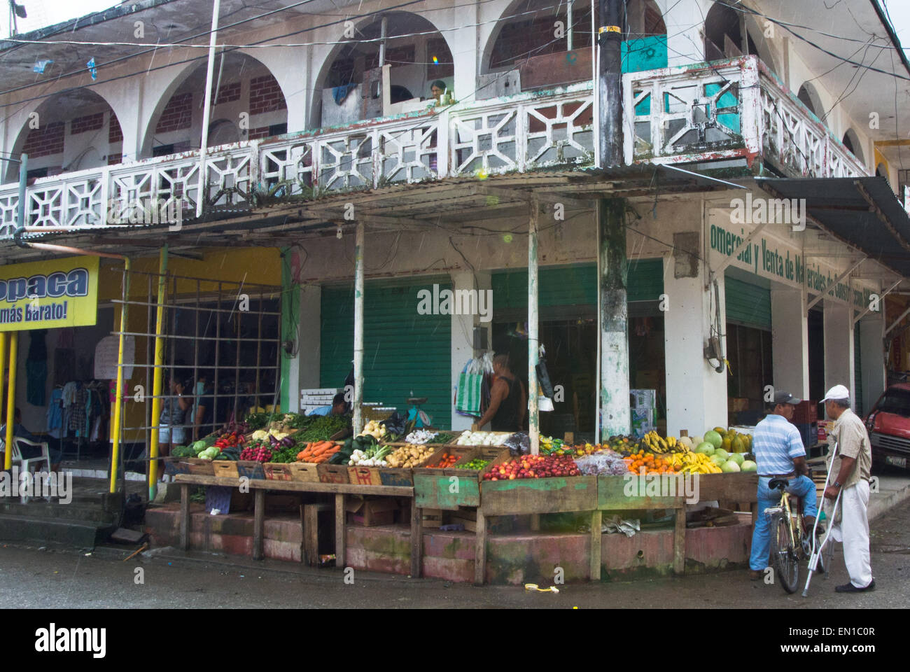 Fruit and vegetables in Livingston, Guatemala Stock Photo
