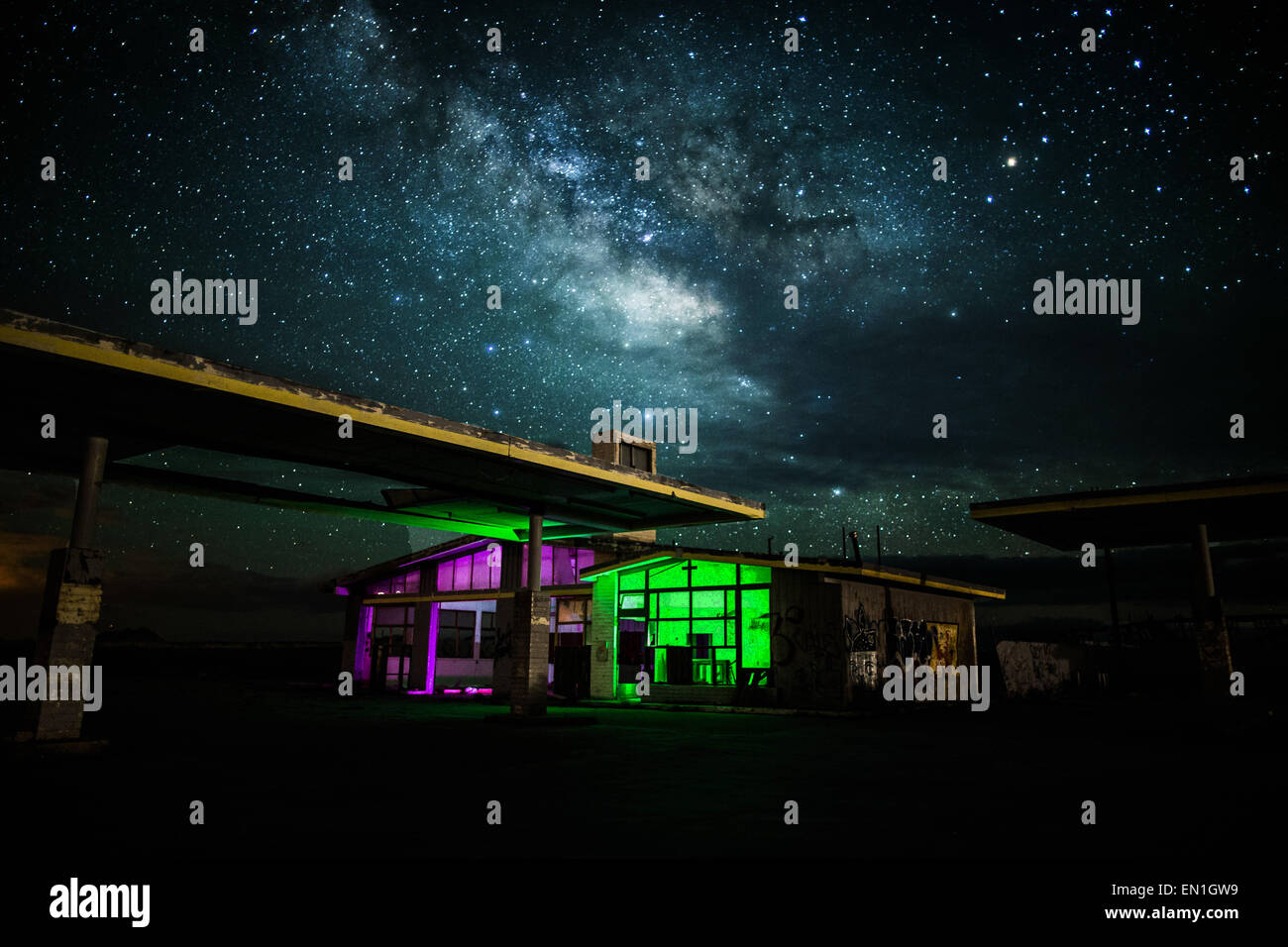 Gas Station Night High Resolution Stock Photography And Images Alamy