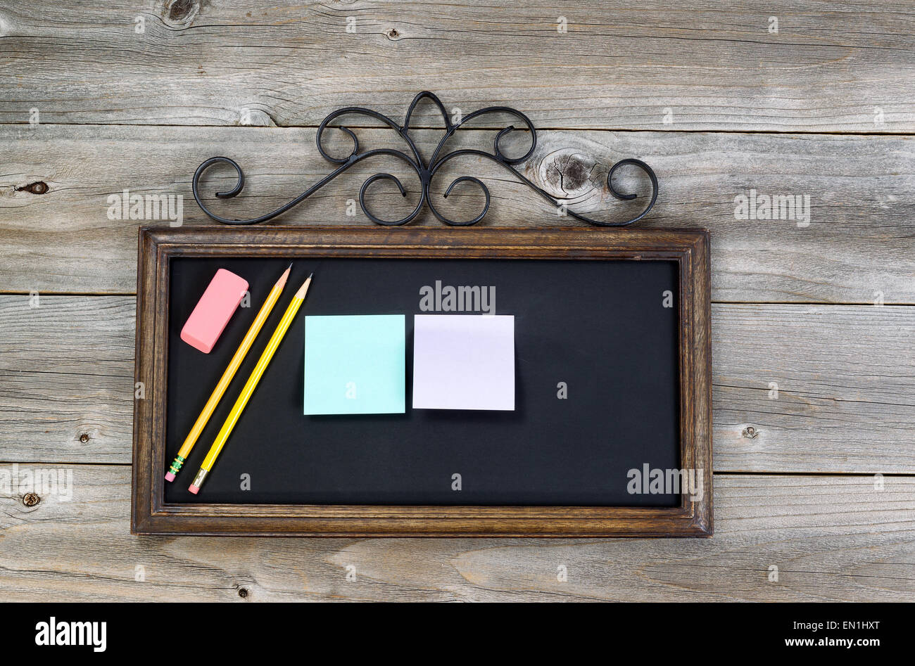 how to clean an old chalkboard
