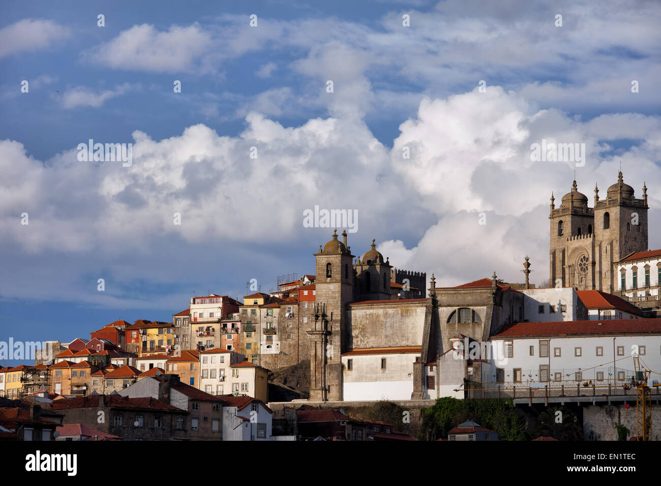 Oporto, Portugal, Old Town skyline in the historic city centre. - Stock Image