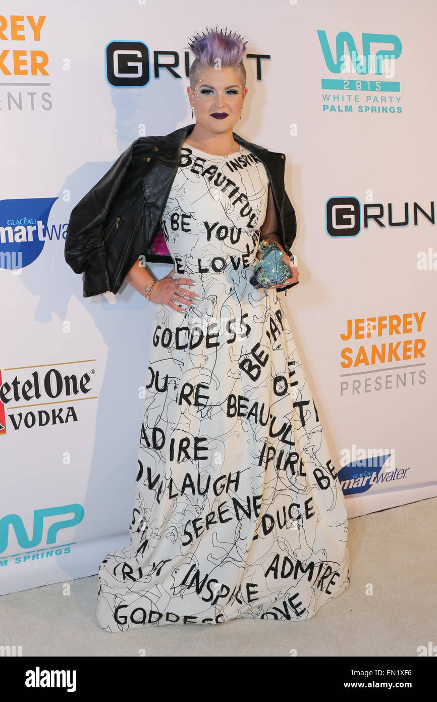 Palm Springs, California  USA 25th April, 2015 TV personality and fashionista Kelly Osbourne is Queen of the White - Stock Image