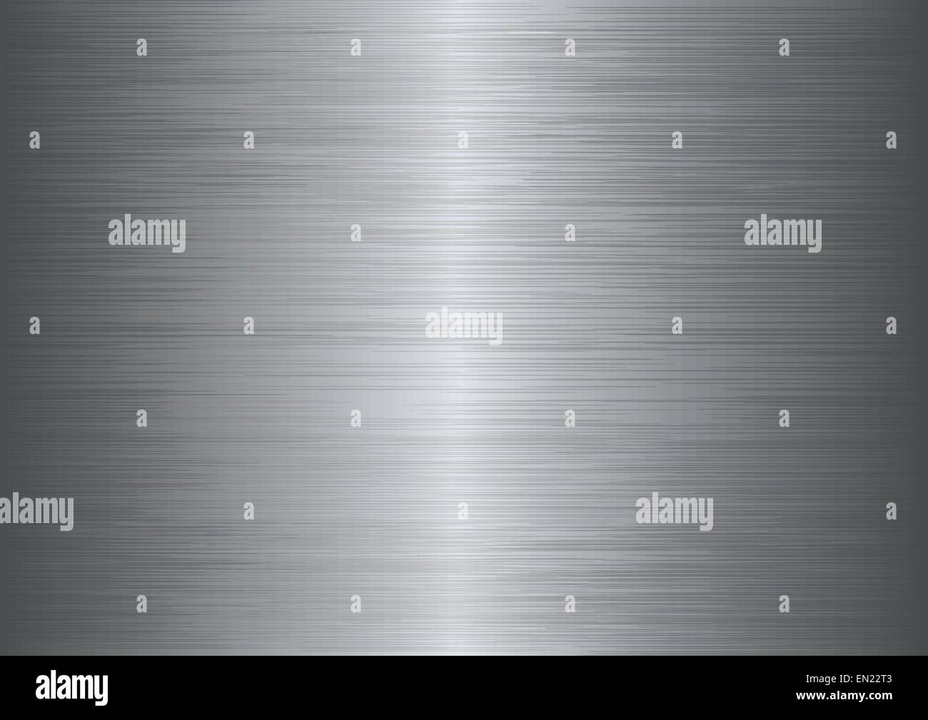 Brushed metal texture abstract background. Vector illustration - Stock Image